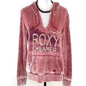 Roxy red washed Dreamer Hoodie EUC